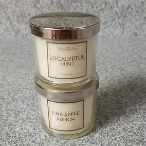 Eucalyptus Mint and Pink Apple Punch 3oz Candles